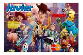 35 Invitaciones Tipo Tarjeta De Credito Toy Story 4 V1