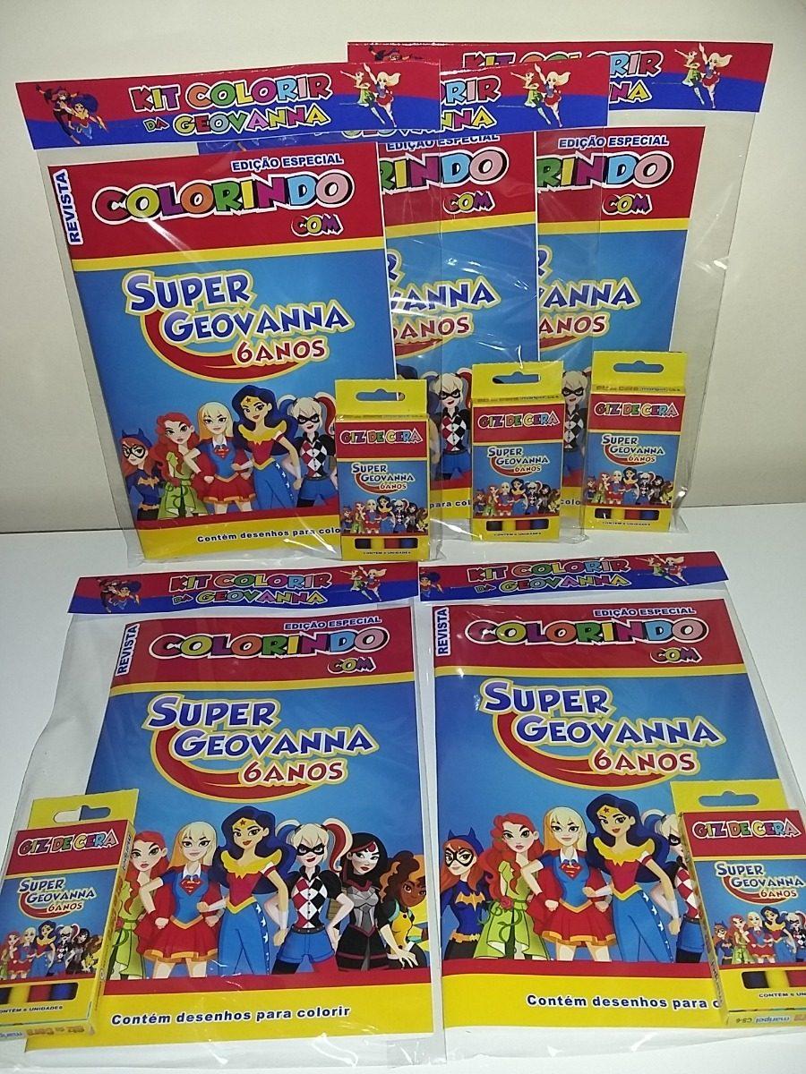 25 Kit De Colorir Revistinha Livrinho Super Hero Girls R 112 50