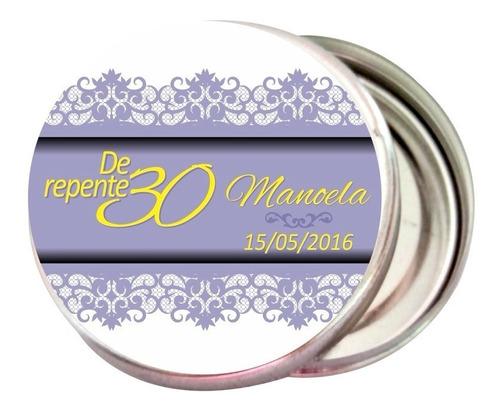 25 latinha mint to be 30 anos - niver - lembrancinha
