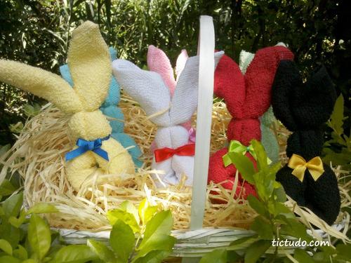 25 lembrancinha pascoa coelho coelhinho  toalha toalhinha
