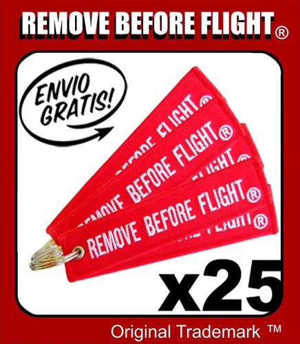 25 llaveros  remove before flight - envío gratis combo