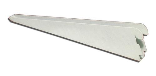 25 mensula 27 cm y 5 riel estanteria 2 mts blanco reforzada