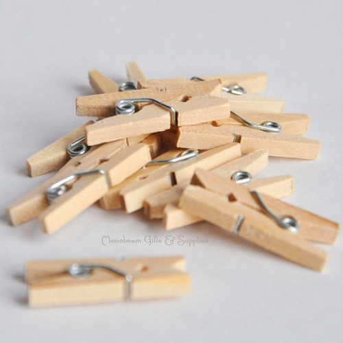 25 mini broches color natural - brochecitos 3,5 cm
