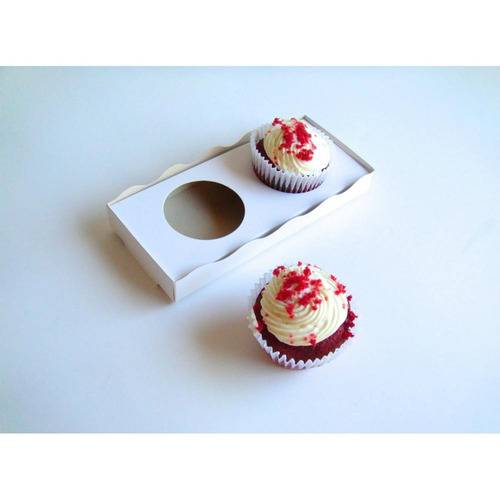 25% off!! bandeja take away porta vaso x2  (x 50u.) cupcake muffin - bauletto