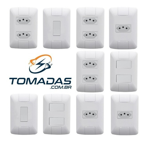 25 peças - interruptores tomadas - casa toda - tramontina