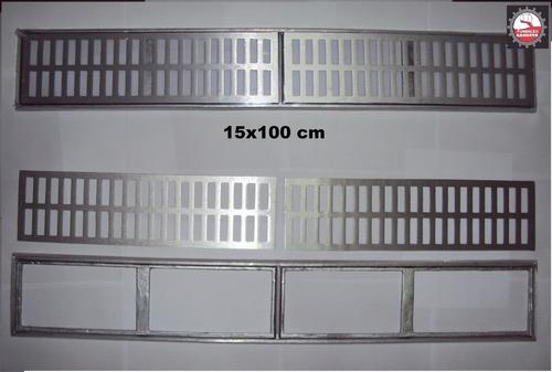 25 peças ralo 15x100 cm ralo linear em aluminio fundido