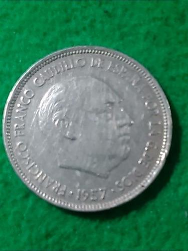 25 pesetas. españa. 1957