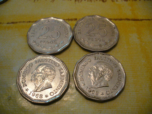25 pesos moneda de 1968 argentina