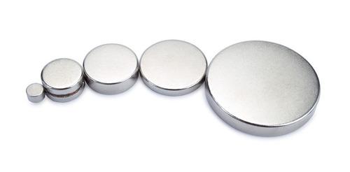 25 piezas imán neodimio redondo plano 18mm x 2mm