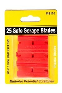 25 plástico hojas de afeitar de dos filos segura raspe cuchi