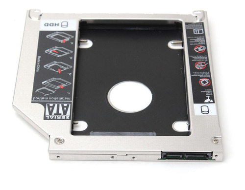 2.5 polegadas/9.5mm 2ª sata hdd ssd disco rígido caddy bay p