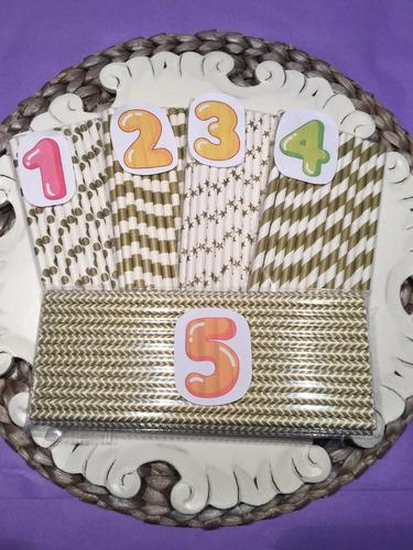 25 popotes decorados vintage para tus bebidas promo!