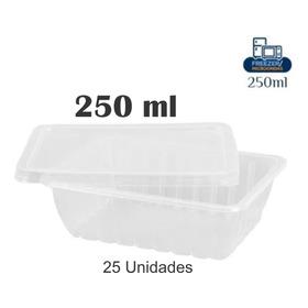25 Pote Marmita Descartável 250ml Freezer Microondas
