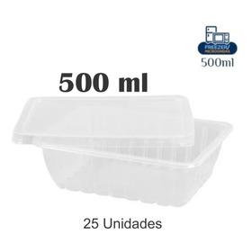 25 Pote Marmita Descartável 500ml Freezer Microondas
