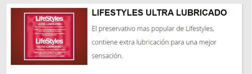 25 preservativos lifestyles ultra lubricados - envío gratis.