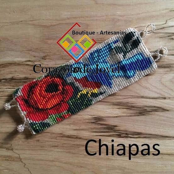 ca0656f6fa76 25 Pulseras Tejidas En Chaquira artesanales De Chiapas ...