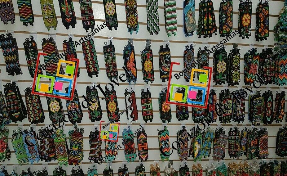 d730c381dce3 25 pulseras tejidas en chaquira artesanales de chiapas!! Cargando zoom.