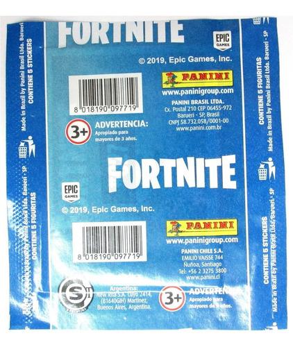 25 sobres stickers de fortnite colección / don lámina