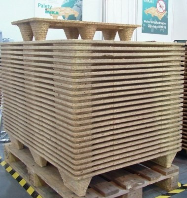 25 tarimas euro de fibra de madera prensada de 120x80 cm