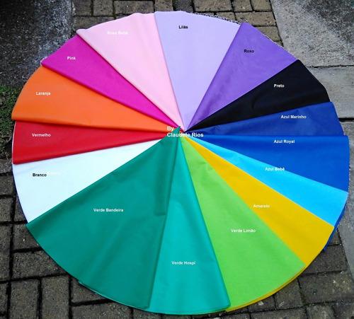 25 toalhas tnt colorida + 25 cobre manchas p/festas/eventos