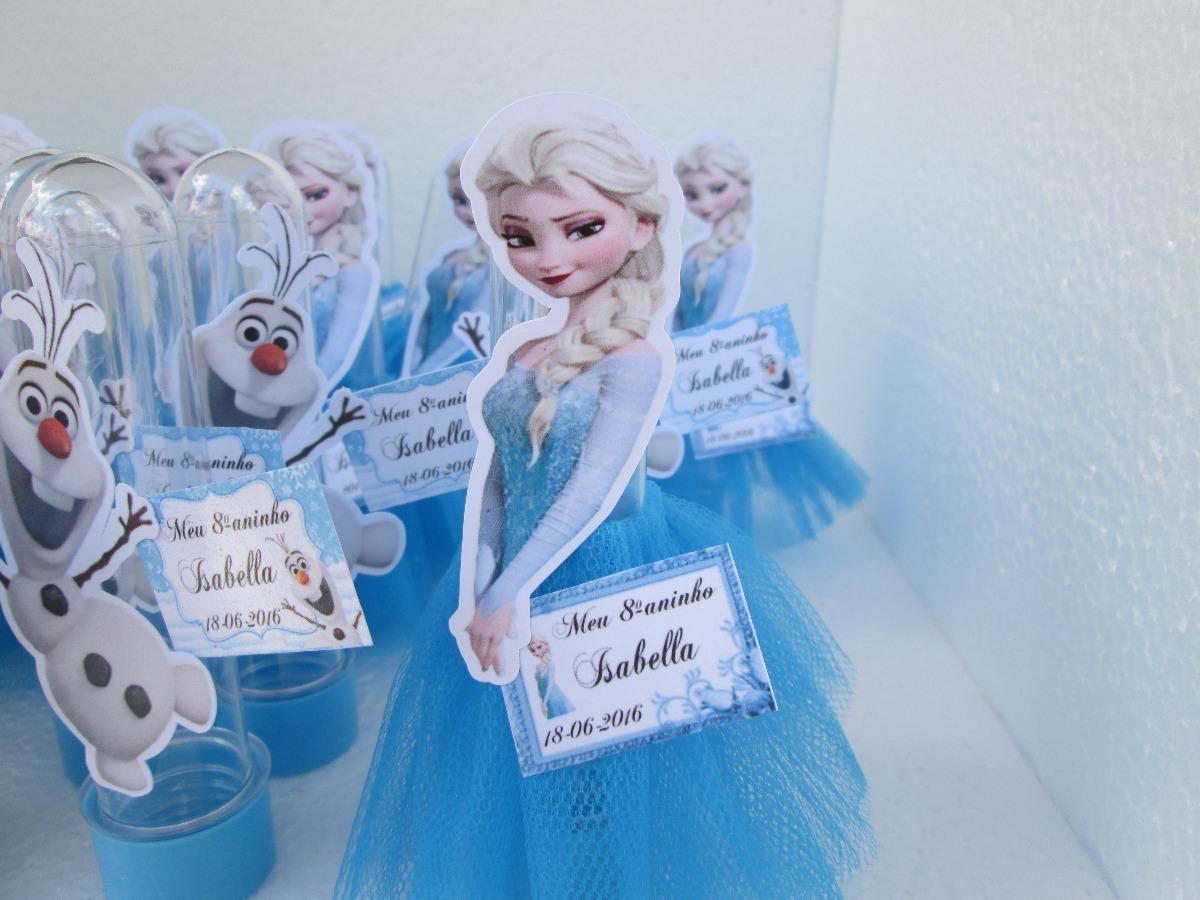 25 Tubete Lembrancinhas Frozen Anna Elsa Saia Tule R 6990 Em