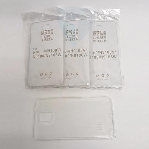 25 unidades - funda transparente ss note 4 x mayor
