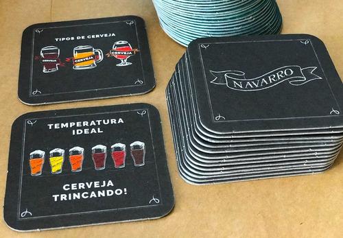 250 bolachas de chopp personalizadas, papelão liner extra.