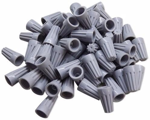 250 conectores de torção emenda para fios cabos - cinza
