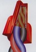 250 conectores de torção emenda para fios cabos - vermelha