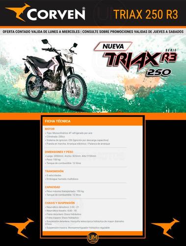 250 enduro 250 moto corven triax