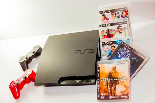 250 gb + 2 controles + 5 jogos (fotos reais do produto)
