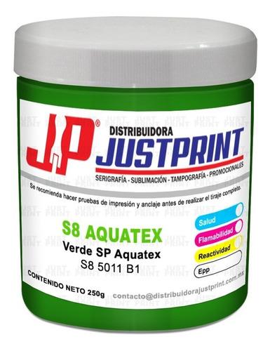 250 grs tinta aquatex verde sp textil base agua serigrafia