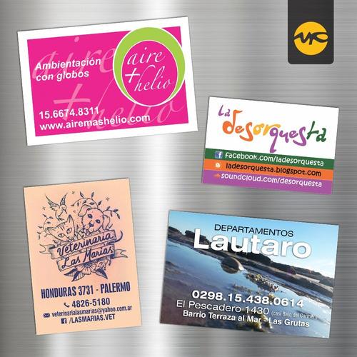 250 imanes publicitarios full color 6x4 cm