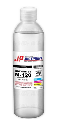 250 ml solvente m-120 de secado regular para tinta latex