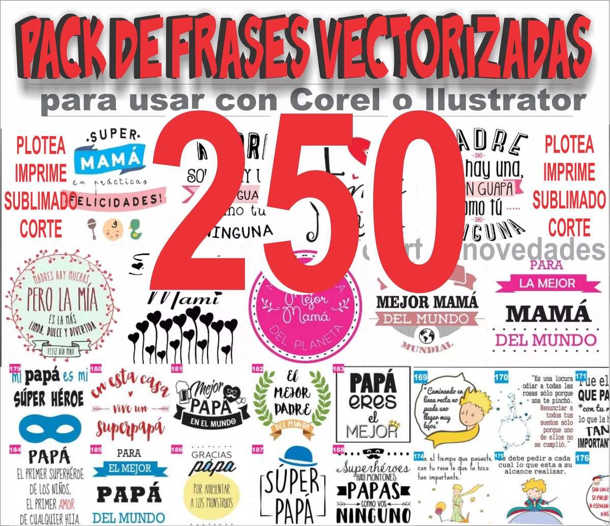 250 Plantilla Frases Vinilo Sublimacion Tazas Remera Frascos - $ 99 ...