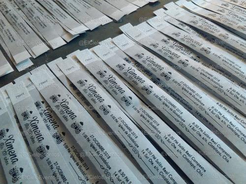 250 pulseras tyvek de identificación impresa.