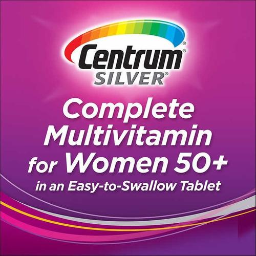 250 tabletas centrum silver mujeres 50+ años