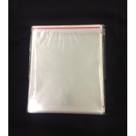 250 Unid Saco Plástico Transparente Adesivado Para Box De Cd