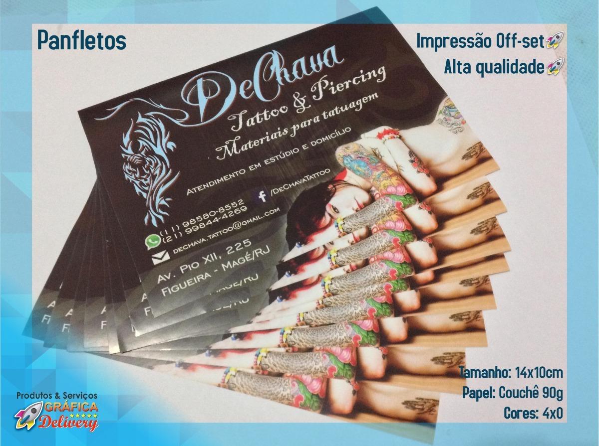 f27130415 2500 Panfleto Flyer Folder 14x10cm 4x0 Frete grátis Retirada - R  98 ...