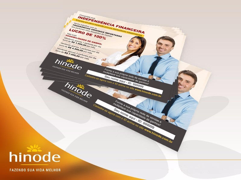 47516d86c 2500 Panfletos + 1000 Cartões De Visita Hinode - R  160