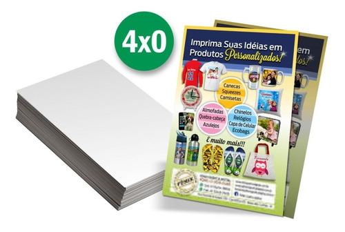 2500 panfletos 10x14 4x0 e 1000 cartões visita - arte grátis
