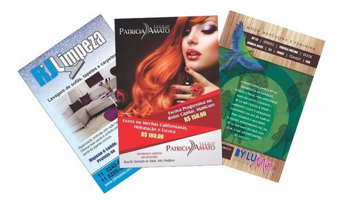 2500 panfletos 10x14 +  arte gratis 4x0