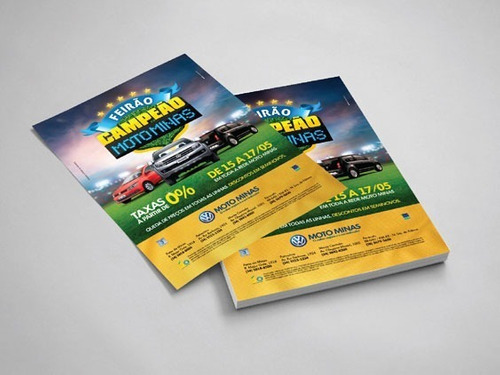 2500 panfletos | flyer 15x10cm colorido frente arte grátis