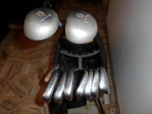 254- set de 10 palos de golf ben hogan con bolso ogio sport