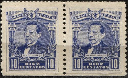 2544 la carpeta ruleteado y perforado 10c mint n h 1915