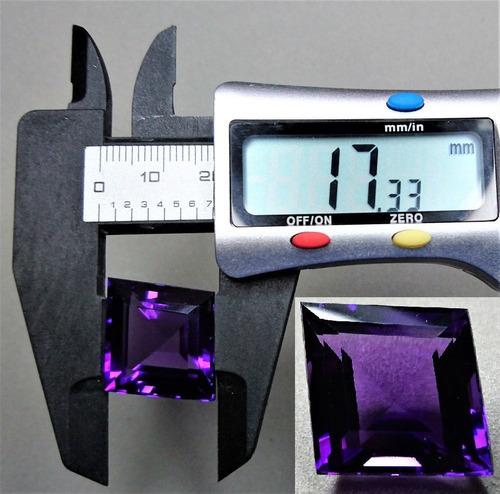 25.50 ct amatista lila rombo 17.58x17.33x11.70mm piscis