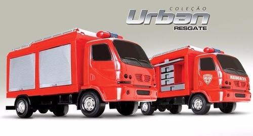 25cm mini caminhão viatura bombeiro resgate samu 192 incendi