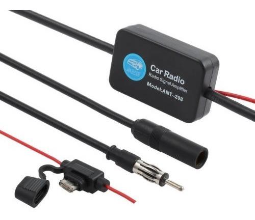 25db 12v auto car antena radio fm amplificador de señal amp