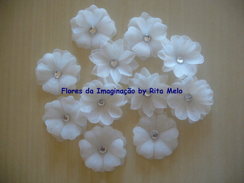 25un flores tecido mini artesanato lembrancinhas scrapbook