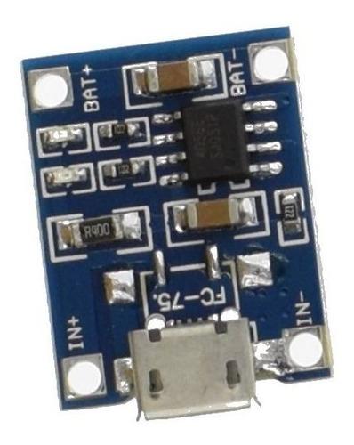 25x mini carregador micro usb 1a para bateria de lítio